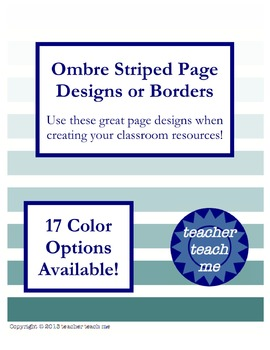 Ombre Stripes Page Designs