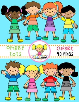 Ombre Tots {Kids Clipart}
