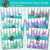 Ombre Watercolor Paper Clip Art Bundle: 6 Hand-Painted Packs {Photo Clipz}