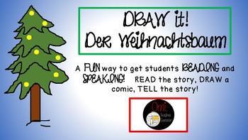 Weihnachtsbaum Comic.German Christmas Draw It Weihnachtsbaum