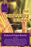 The Omnivore's Dilemma - Research Project Bundle