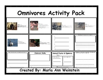 Omnivores Activity Pack
