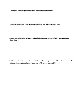 Omnivore's Dilemma Chapters 10 & 11 Questions