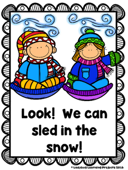 On A Cold Winter Day (A Sight Word Emergent Reader and Teacher Lap Book)