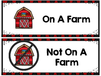 On A Farm Pocket Chart and Songs