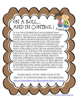 On A Roll and In Control: Visual Cue (Self Control/Positive Behavior Strategies)