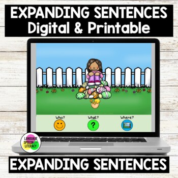 On An Egg Hunt, Learn Pronouns, Verbs and Basic Concepts, No Print - Teletherapy