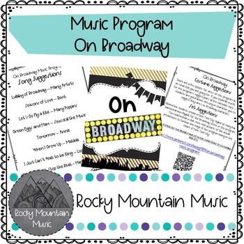 On Broadway Music Program