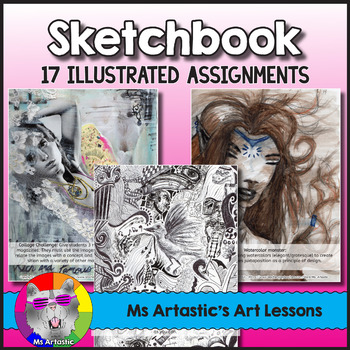 Sketchbook Assignments, Illustrated Art Lessons