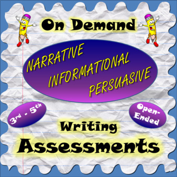 On Demand Informational, Opinion / Persuasive, Narrative Writing Assessment