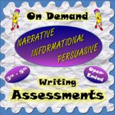 On Demand Informational, Opinion / Persuasive, Narrative W