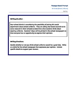 On Demand Passage-Based Prompt-School Uniforms (Opinion)