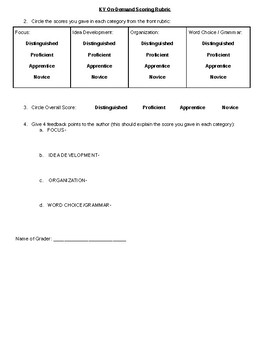 On-Demand Rubric for Peer Editing Activity