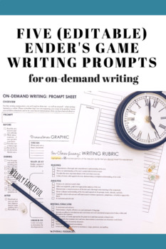 Ender's Game On-Demand  Writing Resources with 5 Different Prompts