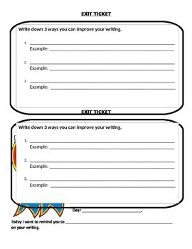 On Demand Writing Exit Slips