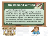 On Demand Writing Prompt