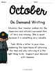 On Demand Writing Prompts