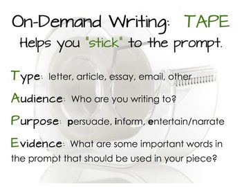 On-Demand Writing Prompts, Outline, and Anchor Charts