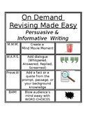 On Demand Writing REVISING Made Easy