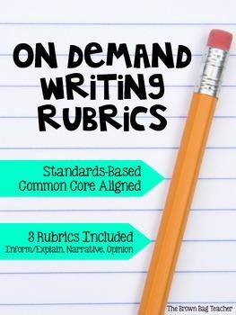 On-Demand Writing Rubrics: Inform/Explain, Narrative, Opinion