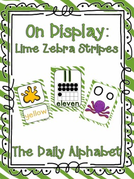 On Display ~ Lime Zebra Classroom Decor