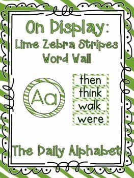 On Display ~ Lime Zebra Word Wall