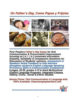 On Father's Day, Come Papas y Frijoles