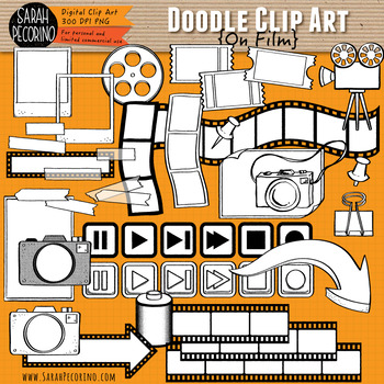 On Film Doodle Clip Art Collection
