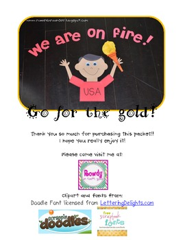 On Fire! Athletic Games Torch {craftivity and bulletin board display}