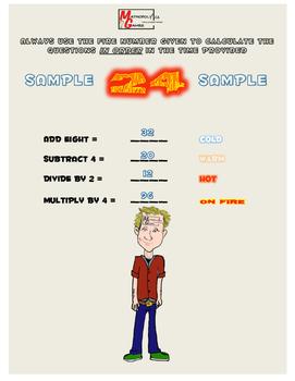 On Fire - Matthew Kandew -Addition,Subtraction, Multiplication, Division Fun