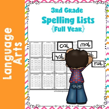 Third Grade Full Year On Level Spelling Lists