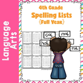 On Level Spelling Lists {Full Year 4th Grade}