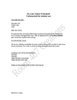 On-Line Values - A Review of Formatting Word Documents