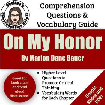 On My Honor Comprehension Questions and Vocabulary Guide