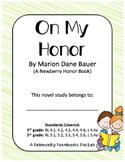 On My Honor Novel Study / Answer Key