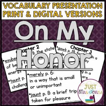 On My Honor Vocabulary Presentation