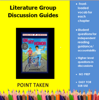 On My Honor (by Marion Dane Bauer) Literature Group Discussion Guides