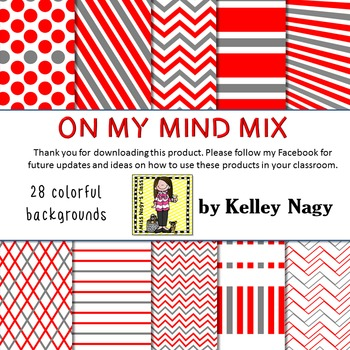 On My Mind Mix Digital Papers