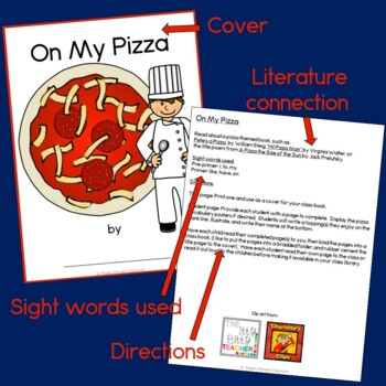 On My Pizza Class Book with Sight Words