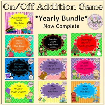 {BUNDLE} On/Off Addition Games for the Whole Year