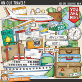 """Travel Clip Art: """"On Our Travels"""""""