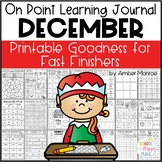 On Point Learning Journal:  December {Printable Goodness for Fast Finishers}