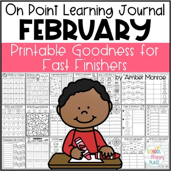 On Point Learning Journal:  February {Printable Goodness for Fast Finishers}