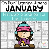 On Point Learning Journal:  January {Printable Goodness for Fast Finishers}
