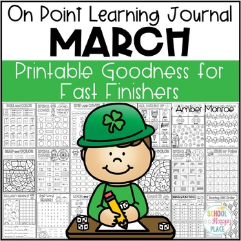 On Point Learning Journal:  March {Printable Goodness for Fast Finishers}