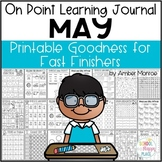 On Point Learning Journal: May {Printable Goodness for Fast Finishers}