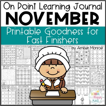 On Point Learning Journal: November {Printable Goodness for Fast Finishers}
