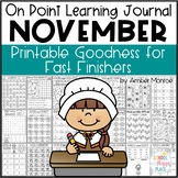 On Point Learning Journal: November {Printable Goodness fo