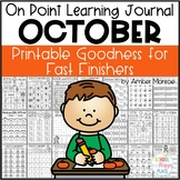 On Point Learning Journal: October {Printable Goodness for Fast Finishers}
