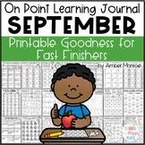 On Point Learning Journal: September {Printable Goodness f